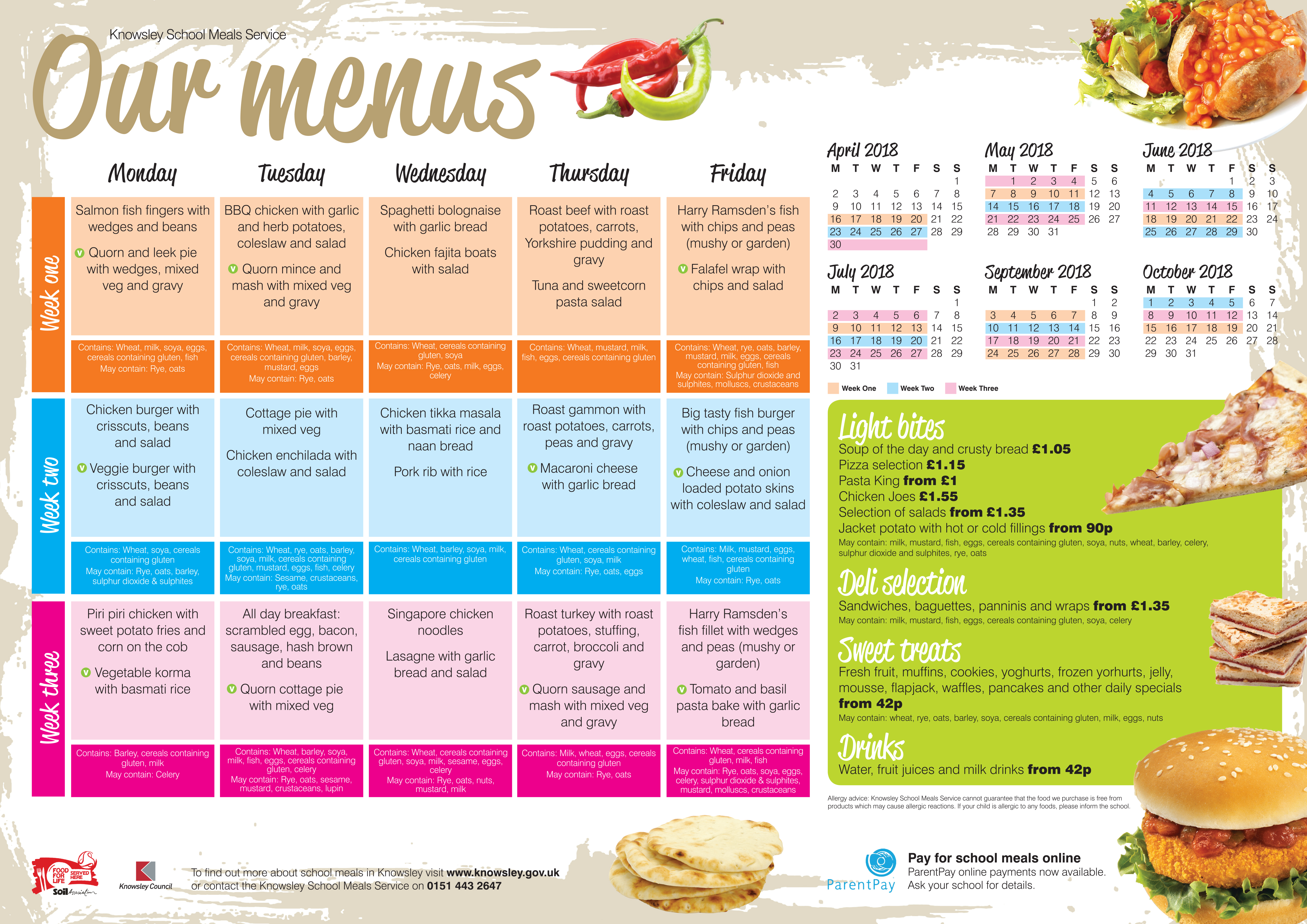 School meals: a full menu of the child 60